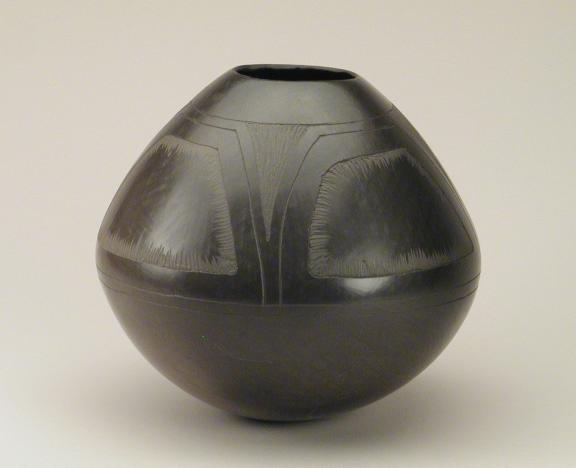 Hand-built and Burnished Pot